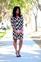 black chevron Winter Lennon dress - black erin Shoedazzle pumps