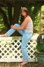 Moms-vintage-jeans-vinyage-hat