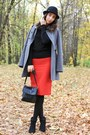 Red-zara-skirt