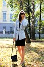 Black-h-m-dress-sky-blue-zara-blazer-off-white-topshop-flats
