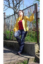 deep purple CCC shoes - navy second hand next jeans - magenta second hand Top Sh