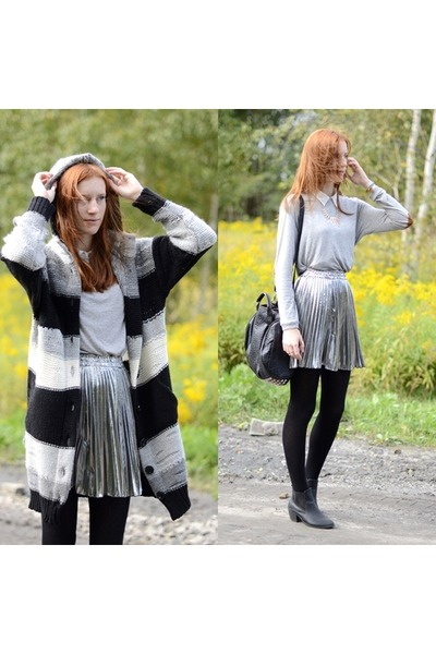 grey Zara blouse