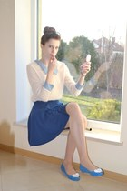 blue Novamoda skirt - beige wholesale-orders sweater - blue renee flats