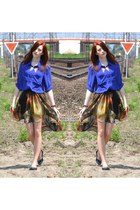 galaxy Romwecom skirt - cobalt H&M shirt