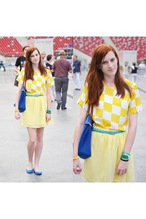 yellow DIY skirt