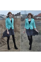 mint Bershka blazer - black Novamoda leggings - grey wholesale skirt