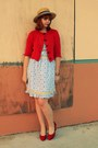 Red-plasticland-shoes-red-cardigan-light-blue-modcloth-dress-light-brown-