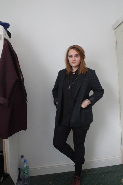 forest green tartan Primark blazer - black new look shirt