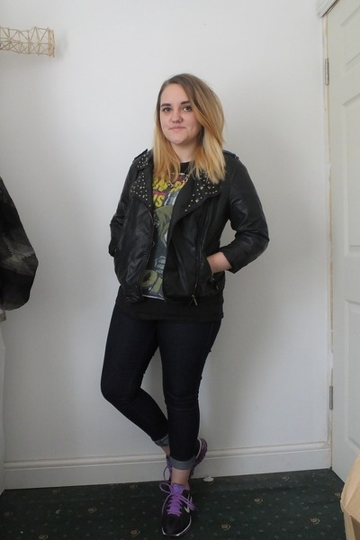 black Primark jacket - navy Primark jeans - black Primark t-shirt
