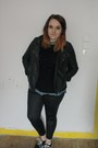 Black-studded-primark-jacket-black-wet-look-primark-leggings