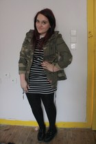 navy Primark dress - olive green Primark blazer - turquoise blue Primark ring