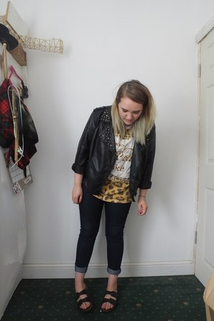navy Primark jeans - black Primark jacket - light brown Primark shirt