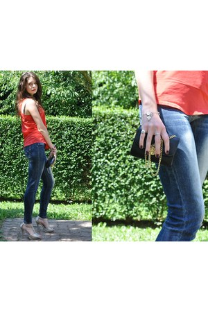 jennyfer jeans - H&M bag - jennyfer top