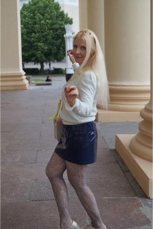 pink MademoiselleR bag - gold Soft Grey shoes - blue MademoiselleR skirt