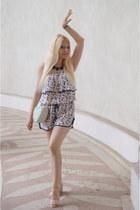 green asos bag - blue La Redoute bodysuit - pink Mademoiselle R sandals