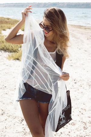 black handbag Newdress bag - white transparent dress