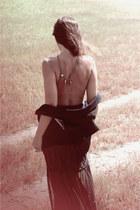 black vest - black skirt