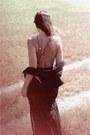 Black-vest-black-skirt