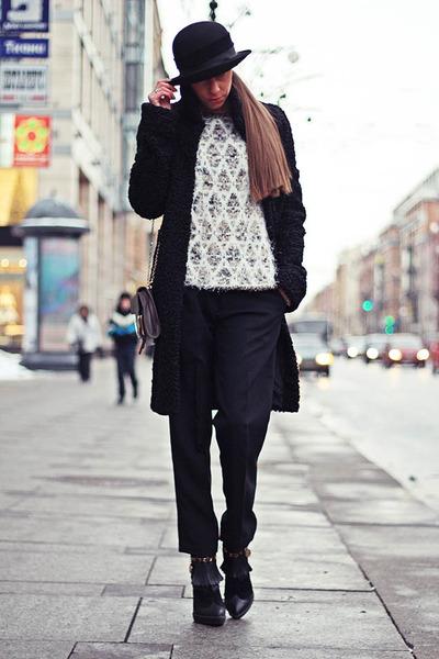 silver Coccinelle bag - black Kenzo pants