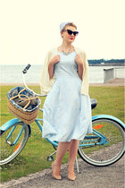 handmade dress - asos sunglasses - Mango heels - Cubus cardigan