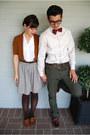 Mustard-vintage-cardigan-crimson-bass-shoes-white-express-shirt