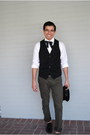 Black-western-homemade-tie-black-oxfords-steve-madden-shoes