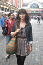 Gray-borrowed-from-a-friend-jacket-green-vintage-purse-brown-vintage-shorts-