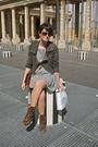 Blue-unknown-boutique-dress-brown-vintage-boots-brown-vintage-purse-gray-h