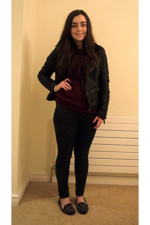 TK Maxx jumper - Levis jeans - Miss Selfridge jacket - River Island necklace