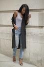 Sky-blue-levis-jeans-black-asos-cardigan