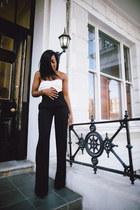 white asos bra - black Zara pants
