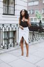 Ivory-zara-skirt-black-black-cami-asos-vest