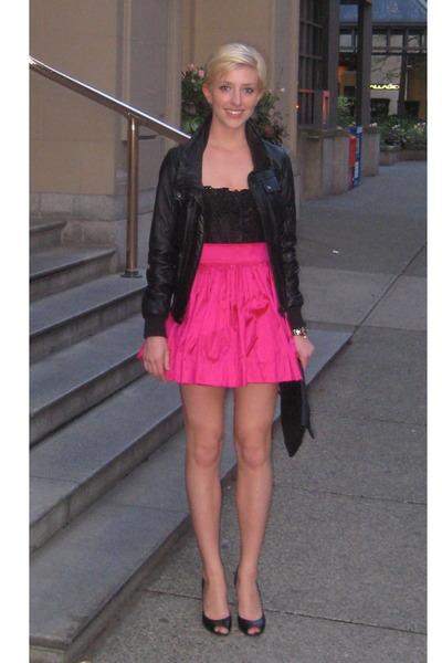Zara jacket -  Some Italian dress maker top - VictoriaAlexandra skirt - Elie Tah