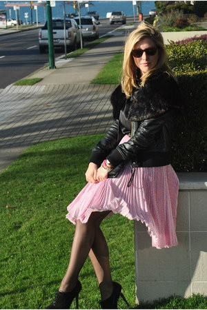 bubble gum Jason Wu skirt - black Browns ID shoes - black Zara jacket