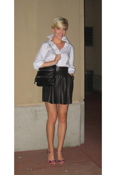 Zara shirt - H&M skirt - Zara purse - Aldo shoes