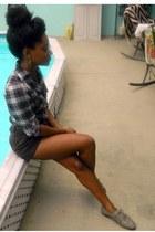 navy Rue 21 top - dark brown Goodwill shorts