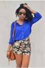 Blue-forever-21-blouse-tawny-pacsun-bag-black-floral-print-sammydress-shorts