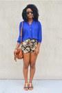 Tawny-pacsun-bag-black-floral-print-sammydress-shorts-blue-forever-21-blouse