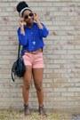 Black-cotton-on-bag-bubble-gum-target-shorts-blue-forever-21-top
