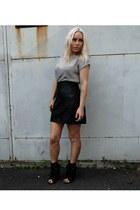 Max Fowles skirt - Alexander Wang boots - Topshop top