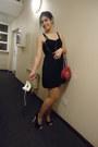 Black-quiz-shoes-black-lace-up-stradivarius-dress-magenta-primark-bag