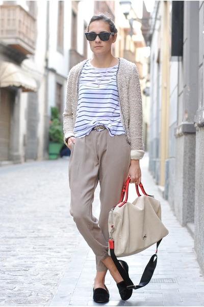 beige H&M pants - black Zara shoes - beige Zara jacket