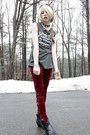 Black-cowboy-ebay-boots-ruby-red-velvet-idle-minds-leggings