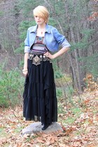 gold belly dancing antique belt - silver studded Etsy boots