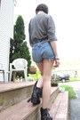 Black-faux-leather-etsy-vintage-boots-sky-blue-diy-thrifted-shorts-heather-g
