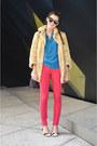 Light-brown-cow-print-deena-ozzy-shoes-beige-faux-fur-juicy-couture-jacket-