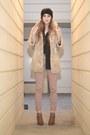 Light-brown-heels-luluscom-shoes-black-turban-hat-beige-faux-fur-juicy-coutu