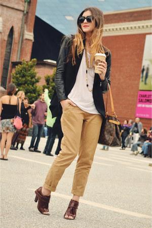 maroon Alexander Wang shoes - black Theory jacket