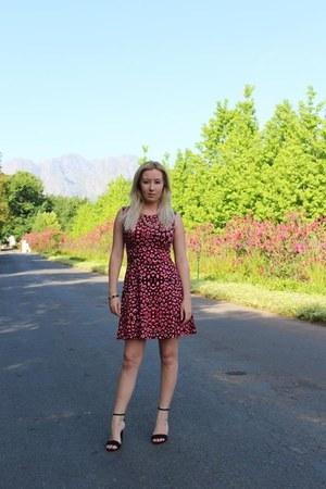 ruby red mr p dress - Zara heels