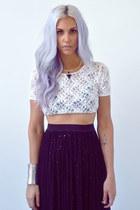 black sparkle Love skirt - periwinkle hair god accessories